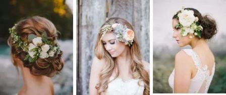Украшение в свадебную прическу: фото