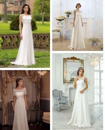 Платье невесты классическое