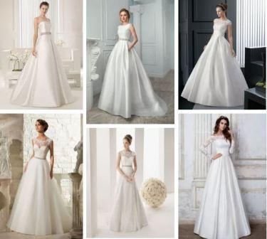 Свадебные платья классические с рукавом
