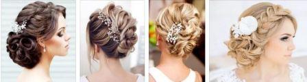 Прически на средние волосы на свадьбу невесте