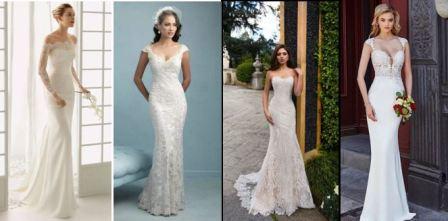 Обтягивающее свадебное платье