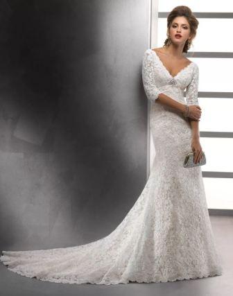 Свадебные платья облегающие кружевные