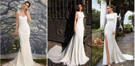 Облегающие свадебные платья фото