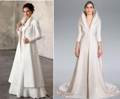 Свадебные накидки для невесты на осень