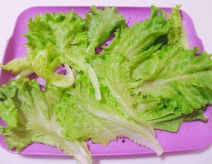 Хранение листьев салата