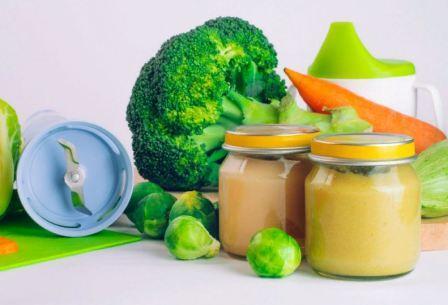 Овощное пюре для первого прикорма ребёнка