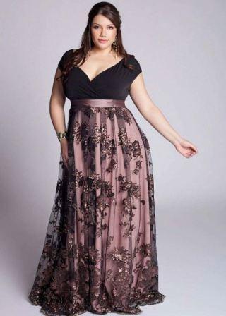 Фасон вечернего платья, который подчеркнет красоту полной женщины